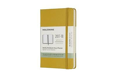 Moleskine 18 Monate Wochen Notizkalender 2017/2018, A6 Hard Cover, Ahorngel ...