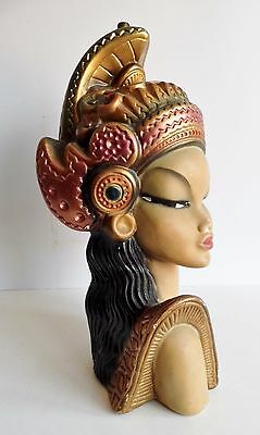 STUNNING Tretchikoff Interest Vintage Thai Lady chalk ware Lamp 1960s RARE MODEL