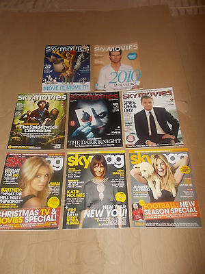 rare SKY MOVIES SKY MAGAZINES Job Lot Collection 8 ISSUES 2008 2009 2010