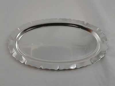 """9.5 x 5.5"""" oval shaped Tray / Plate - Sterling Silver 925 - 112 grams"""