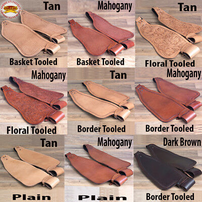 Hilason Tooled Leather Western Saddle Fender Replacement Tack Hobble Strap Adult