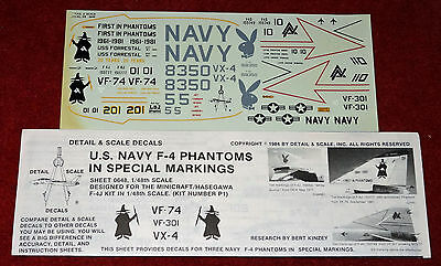 Detail Scale - 1/48 US Navy F-4 Phantom special markings decals