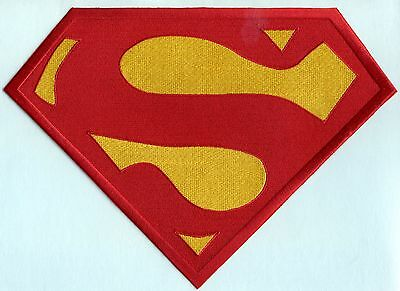 "7"" x 10"" Embroidered Christopher Reeve Red / Yellow  Superman Chest Logo Patch"