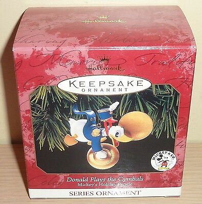 Hallmark 1999 Ornament New in Box ~ Donald Plays the Cymbals, Donald Duck
