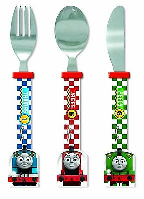 Thomas & Friends Racing Train Shaped Kids Cutlery Set Plastic Knife Fork Spoon