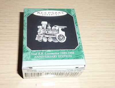 1998 Hallmark Miniature Ornament NIB ~ Noel R.R. Locomotive Anniversary Edition
