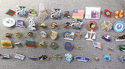 Vintage Lot of 50 Miscellaneous Advertising Pins # A