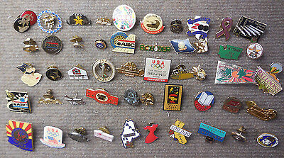 Vintage Lot of 50 Miscellaneous Advertising & Sports & Places Pins # C