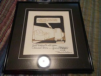 Tom Wilson Ziggy comic strip original  drawing and autograph  for channel 9