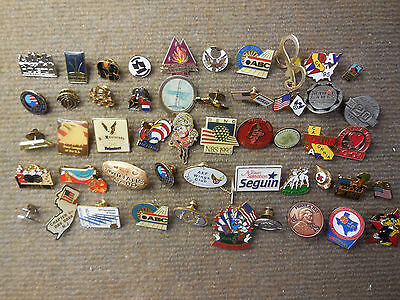 Vintage Lot of 50 Miscellaneous Advertising & Sports & Places Pins Etc # D