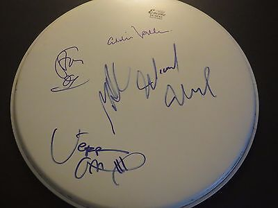 Pearl Jam Signed Drumhead Jsa Authenticated Complete Band Wproof Eddie Vedder