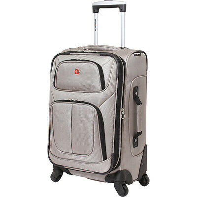 """SwissGear Travel Gear 21"""" Spinner Carry-On Luggage Softside Carry-On NEW"""