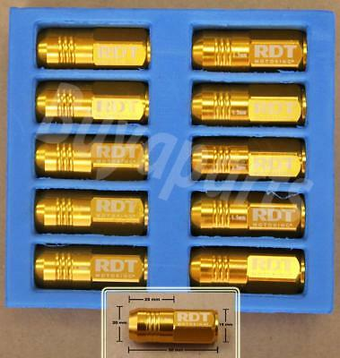 20X Gold 50Mm Aluminum Extended Tuner Closed End Lug Nuts Lug Wheel/rims M12X1.5