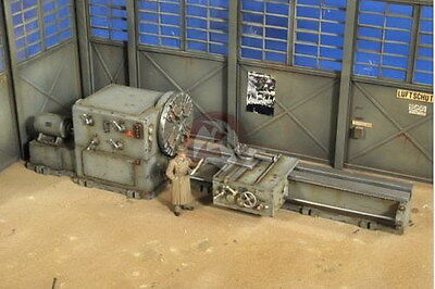 Verlinden 1/35 Tank Plant Large Lathe incl One Figurine and Decals