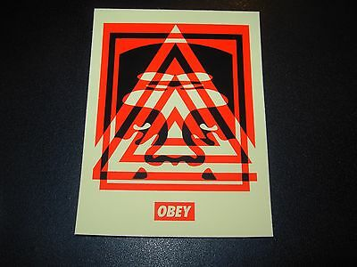 "SHEPARD FAIREY Obey Giant Sticker 3X4"" ANDRE OG TRIANGLE from poster print"