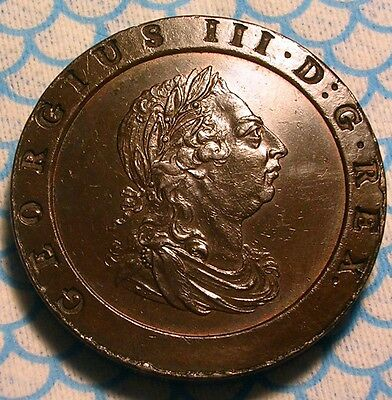 1797 George Iii Twopence British Colonial Revolutionary Not Halfpenny  High Au+