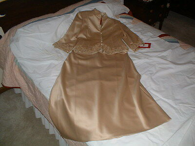 Brand New JS Collection Mother of the Bride or Groom 2 Piece Gold Wedding Dress