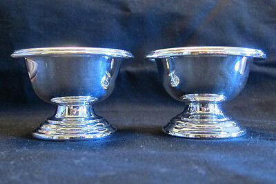 2 Sterling Silver Salt Cellars -- 2.9 Troy Ounces -- Int'l  Sterling -- S106-1