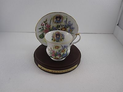 Avon Honor Society 1996 Cup & Saucer Set W/ Display Stand Queen Fine China # 103