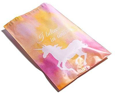 100 6x9 Pink Unicorn Designer Mailers Poly Shipping Envelopes Boutique Bags