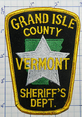 Vermont, Grand Isle County Sheriff's Dept Patch