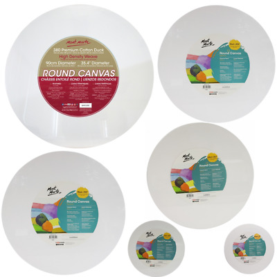1pce Mont Marte Round Circular Canvas in 5 Sizes