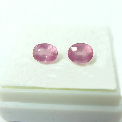 1.43 ct. Unbehandeltes Paar ovale 5.7 x 4.5 mm Pink Tansania Spinelle