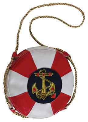 Lady In The Navy Sailor Nautical Lifesaver Handbag Purse Costume Accessory