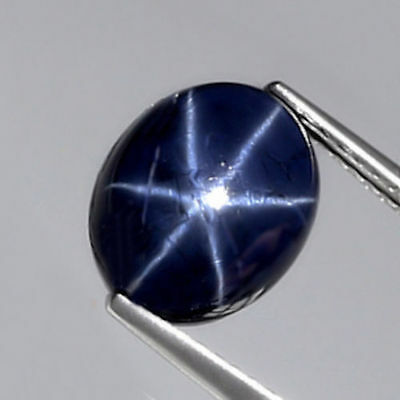 5.77 ct  Ovaler echter 10.9 x 9.1 mm Blue- Star Sternsaphir