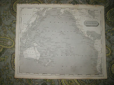 Antique 1805 Pacific Ocean Copperplate Map Australia New Holland New Zealand Nr