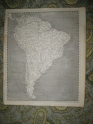 Antique 1805 South America Copperplate Map Brazil Fine Condition Very Detailed