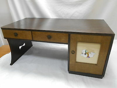 Vintage Chestnut and Kiri Wood Tansu Cupboard Desk Japan Circa 1950s #122