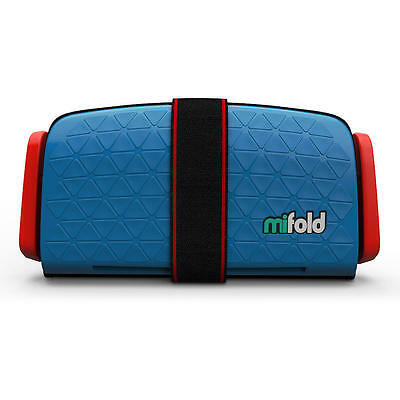MiFOLD Grab-and-Go Booster Seat in Denim Blue
