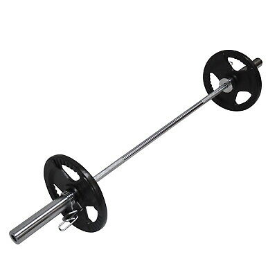 29.5KG Weight Set 150CM Olympic Barbell Bar 20KG Weight Plate FREE Spring Collar