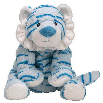 Baby TY - BABY GROWLERS BLUE the Tiger (10 inch) - MWMTs BabyTy Soft Toy