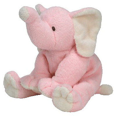 Baby TY - BABY WINKS PINK the Elephant (10 inch) - MWMTs BabyTy Soft Toy