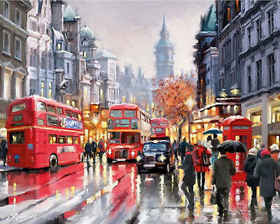 Paint By Number Kit London Street View Painting Wall Decor PZ7049