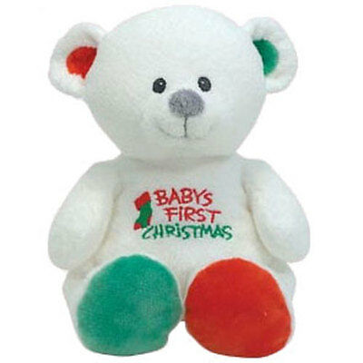 Baby TY - MY CHRISTMAS BEAR the Bear #31038 (10 inch) - MWMTs New BabyTy Plush