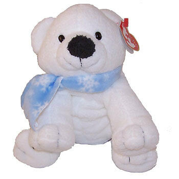 TY Pluffies - CHILLS the Polar Bear (Barnes & Noble Exclusive) - MWMTs