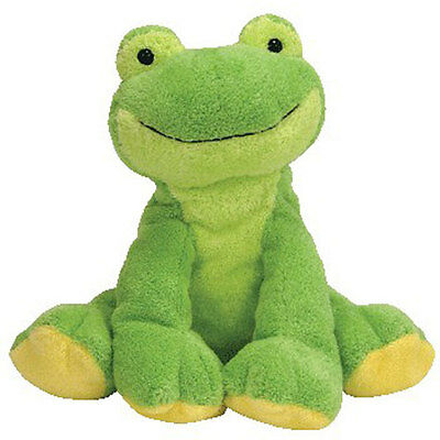 TY Pluffies - LEAPERS the Frog (8 inch) - MWMTs Stuffed Soft Toy