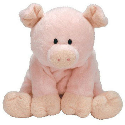 TY Pluffies - PIGGY the Pig (9 inch) - MWMTs Stuffed Soft Toy