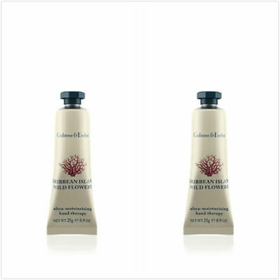 Crabtree & Evelyn CARIBBEAN ISLAND WILD FLOWERS HAND THERAPY 2 x 25g Hand Cream