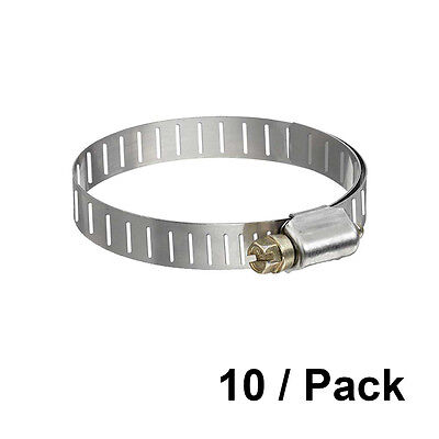 "Worm Gear Clamps 2.04/""-3.00/"" clamping range pack of 10 intercooler turbo pipe"