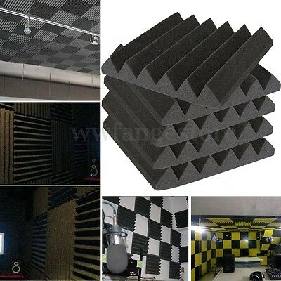 Wedge Acoustic Foam Tiles Studio Sound Proofing Treatment Absorption