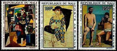 Mali 1967 Pa N°46/48** Art Tableaux Hommage A Picasso / Painting Mnh