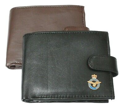 RAF Royal Air Force  Shield Leather Wallet BLACK or BROWN Gift ME53