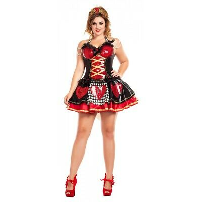 Off with their Heads Queen of Hearts Sexy Costume Halloween Fancy Dress
