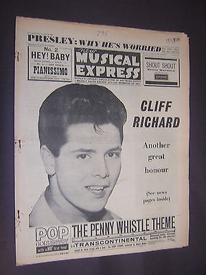 NEW MUSICAL EXPRESS. APRIL 6th 1962. POPULAR MUSIC MAGAZINE.