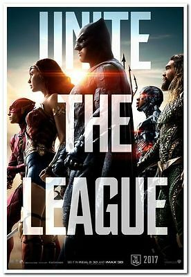 JUSTICE LEAGUE - 2017 - Original 27x40 ADVANCE Movie Poster - GAL GADOT, AFFLECK