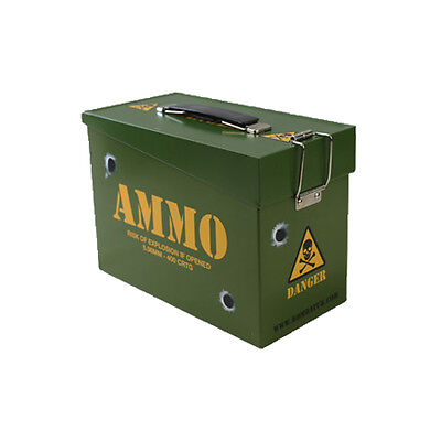 Army Style Ammo Ammunition Storage Toy Play Bedroom Box Tin Lunch Box